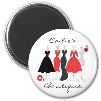 Dress Shop-Daisy Theme 2 Inch Round Magnet