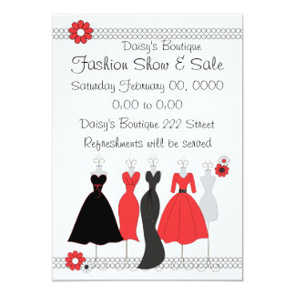 Fashion boutique invitations announcements zazzle dress shop daisy theme card stopboris Images