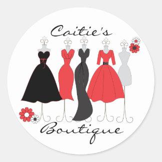Dress Shop-Daisy Theme Classic Round Sticker