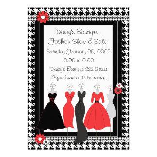 Dress Shop Daisy Theme Personalized Invitation