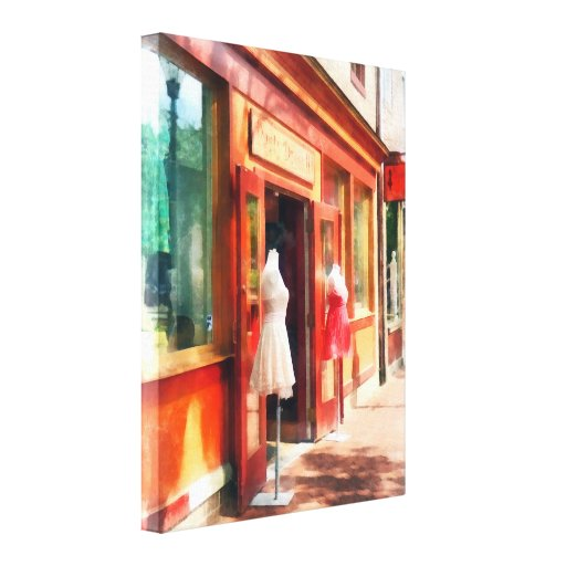 Dress Shop Fells Point MD Gallery Wrapped Canvas