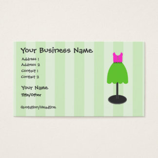 Dress Shop Green Business Cards