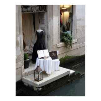 Dress Shop on Canal in Venice Postcards