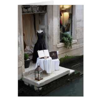 Dress Shop Window Display in Venice Card