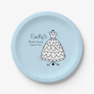 Dress Stand Bride (B) Paper Plate