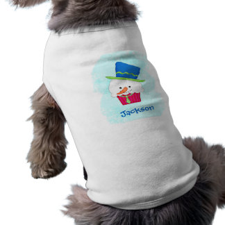 Dress the Dog with a Christmas Snowman Cupcake Doggie T-shirt