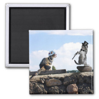 Dress to Impress & do a little Dance, too! 2 Inch Square Magnet