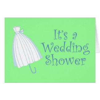 Dress Umbrella Bridal Shower Card