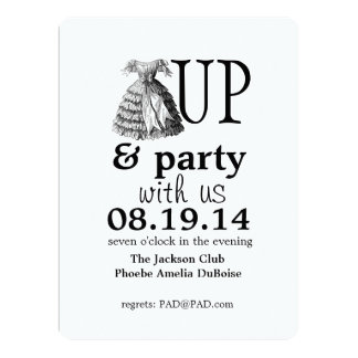 Dress Up and Party With Us Invitation