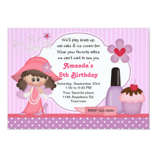 Dress Up Birthday Party 5x7 Paper Invitation Card