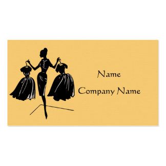 Dress Up Business Card (Yellow)