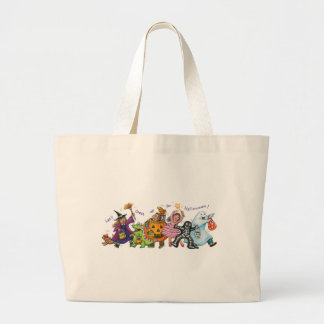 Dress Up For Halloween Large Tote Bag