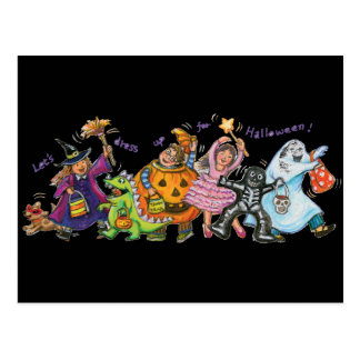 Dress Up For Halloween Post Card