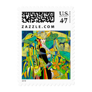 Dress Up Ping Hao oriental abstract painting art Stamp
