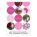Dress Up Pink Circles Personalized Invitations