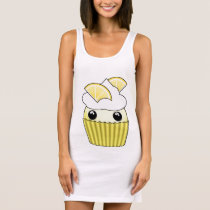 dress with kawaii lemon cupcake on a dress