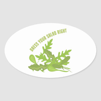 Dress Your Salad Oval Sticker