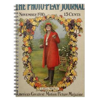 Dressage 1916 del retrato del vintage del caminant spiral notebook
