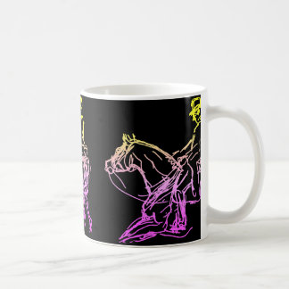 Dressage 3 More Sketches Multicolor Coffee Mug