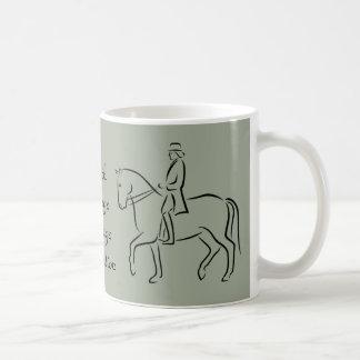 Dressage association logo classic white coffee mug