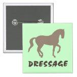 Dressage (caballo y texto del piaffe) pin