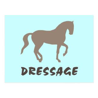 Dressage (caballo y texto del piaffe) postales