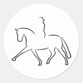 dressage classic round sticker