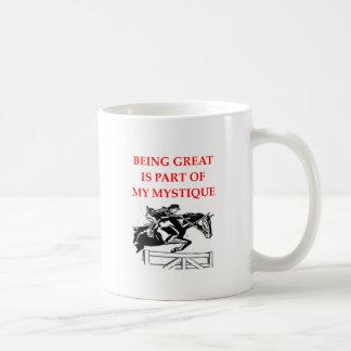 dressage coffee mug