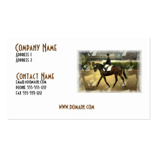 Dressage Competition Business Card