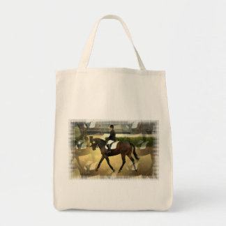 Dressage Competition Grocery Tote Bags