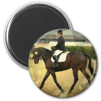 Dressage Competition Round Magnet Fridge Magnets