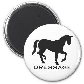 Dressage con el caballo en marco imanes
