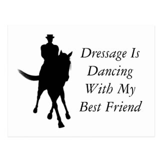 Dressage Dancing With Best Friend Horse Postcard