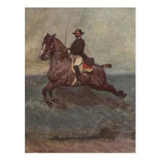 Dressage de Lipizzaner de la bahía: Cabriola Tarjeta Postal