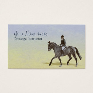 Dressage extended trot business card