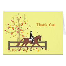 Dressage Fall Ride Custom Card