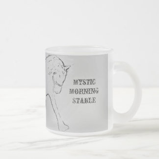 Dressage Frosted Glass Coffee Mug