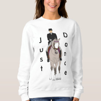 Dressage Grulla Horse and Rider Sweatshirt