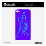 Dressage Half Pass Aqua phone skin Decal For The iPhone 4