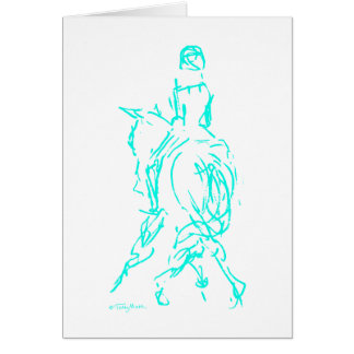 Dressage: Half Pass Card Aqua