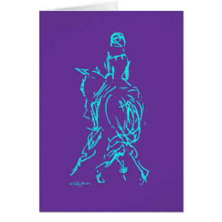 Dressage: Half Pass Card Aqua/Purple