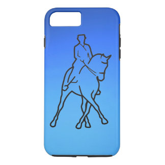 DRESSAGE - HALF PASS - FADED BLUE iPhone 7 PLUS CASE