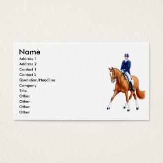 Dressage Half Pass Horse Business Card