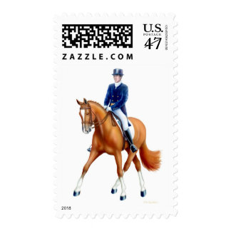 Dressage Half Pass Horse Postage