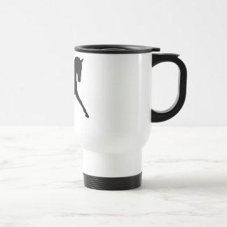 Dressage Half Pass Silhouette Travel Mug