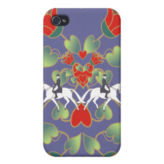 Dressage Hearts and Flowers  iPhone 4/4S Covers