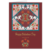 Dressage Hearts and Flowers Valentines card