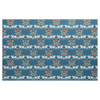 Dressage Hearts and Horses Cotton Fabric