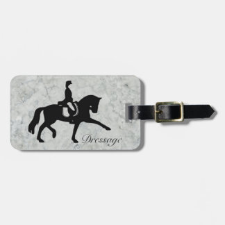 Dressage Horse and Rider Bag Tag