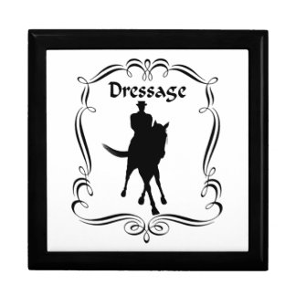 Dressage Horse And Rider Jewelry Box